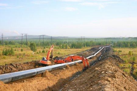 Строительство газового трубопровода на Кубани