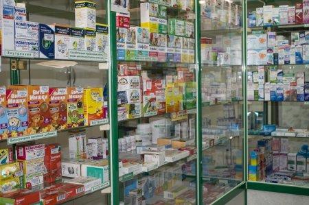 Витрина Кубанской аптеки