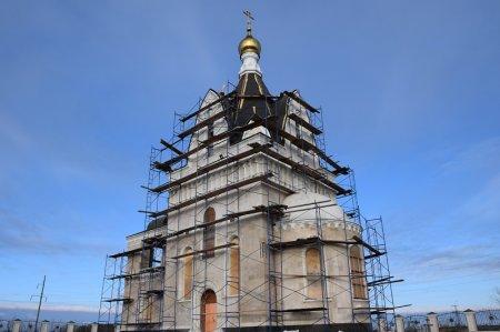 Строительство храма в поселке Новоукраинском