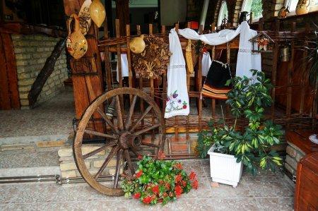 Уголок террасы в сельском стиле