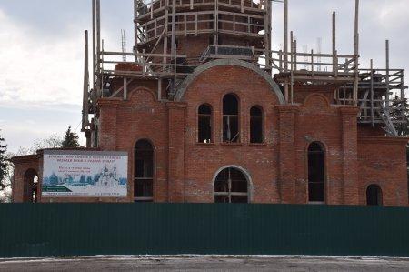 Строительство храма в станице Анастасиевской