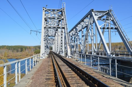 Железнодорожный мост через реку Кубань
