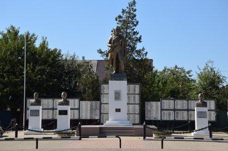 Мемориал в станице Холмской