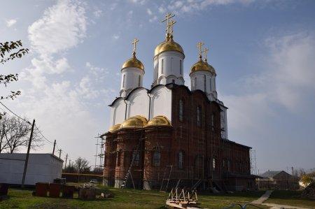 Строительство храма в Запорожской