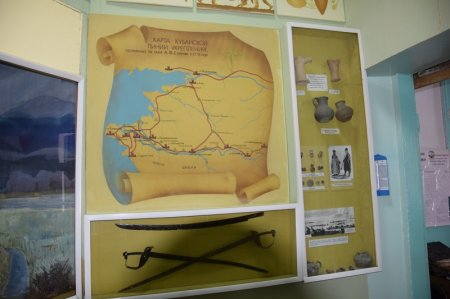 Карта Кубанской линии укреплений